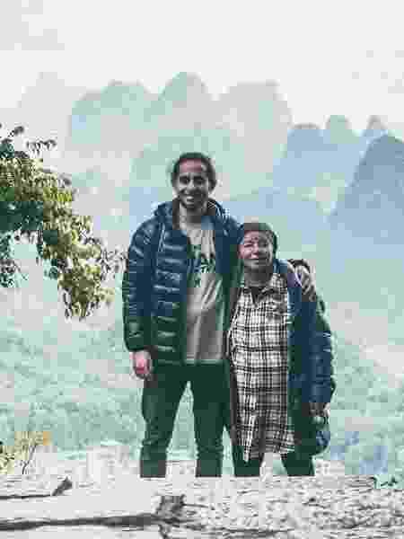 Nathanel e Safta na China  - Reprodução/Instagram/TheGranAdventure