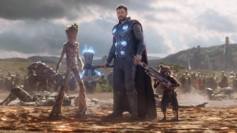 """Groot, Thor e Rocket entram na Batalha de Wakanda em """"Vingadores: Guerra Infinita"""" - Divulgação"""