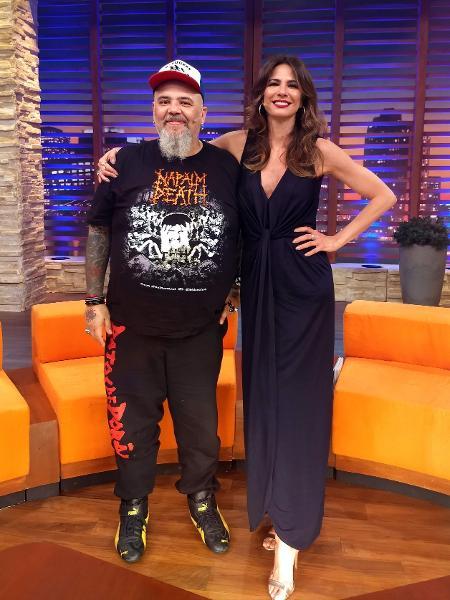 """João Gordo e Luciana Gimenez no programa """"Luciana By Night"""", da RedeTV! - Divulgação/RedeTV!"""