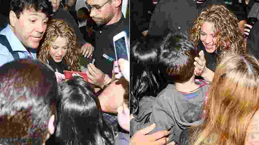 Simpática, Shakira atende fãs ao desembarcar no aeroporto de Guarulhos, no estado de São Paulo - Manuela Scarpa/Brazil News