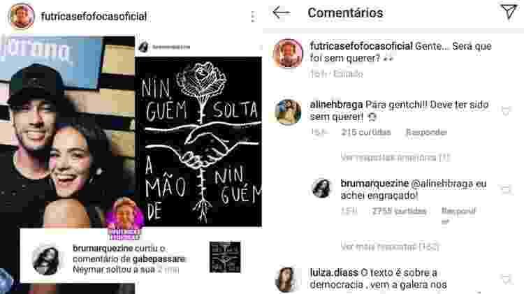 """Bruna Marquezine curte comentário zoando fim de namoro com Neymar e explica: """"Achei engraçado"""" - Reprodução/Instagram - Reprodução/Instagram"""
