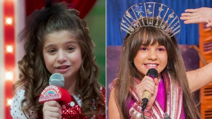 """Manuzita (Melissa Nóbrega) em """"Verão 90"""" e Samantha (Duda Gonçalves) em """"Samantha!"""" - Montagem/UOL/Reprodução/TV Globo/Divulgação/Netflix"""
