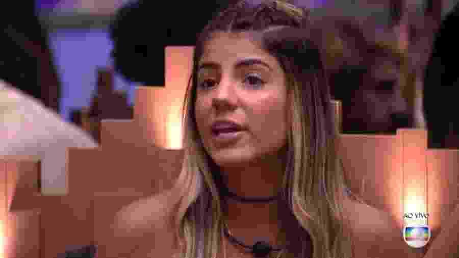 Hariany discute com Paula durante jogo da discórdia - Reprodução/Globoplay
