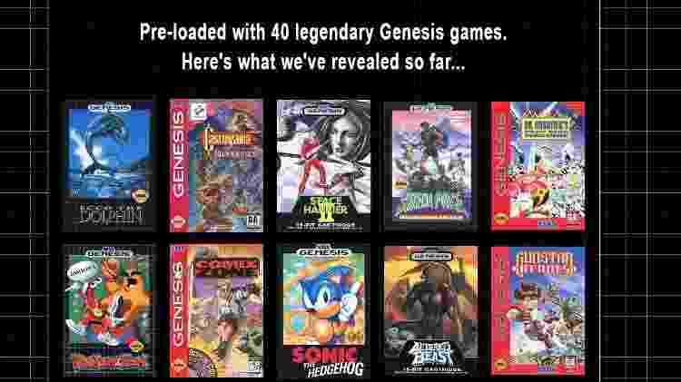 Os títulos anunciados para o Mega Drive Mini - Divulgação