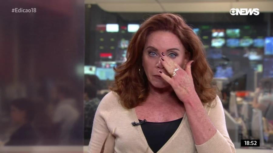 Leilane Neubarth chora ao vivo na GloboNews ao ver pedidos de crianças pelo fim da violência no Rio de Janeiro - Reprodução/GloboNews