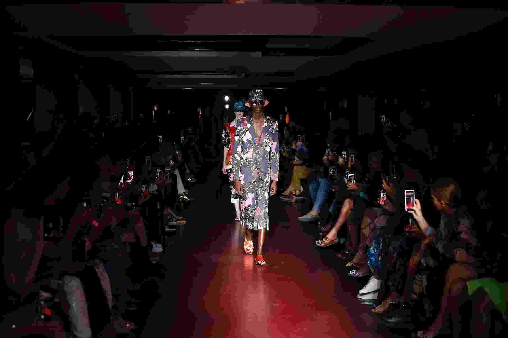 """Peter Pilotto inaugurou a Semana da Moda de Milão com """"uma dose de otimismo solar"""" - Getty Images"""