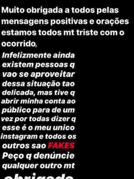 Sofia Liberato, filha de Gugu, se pronuncia após morte do apresentador - Reprodução/Instagram - Reprodução/Instagram