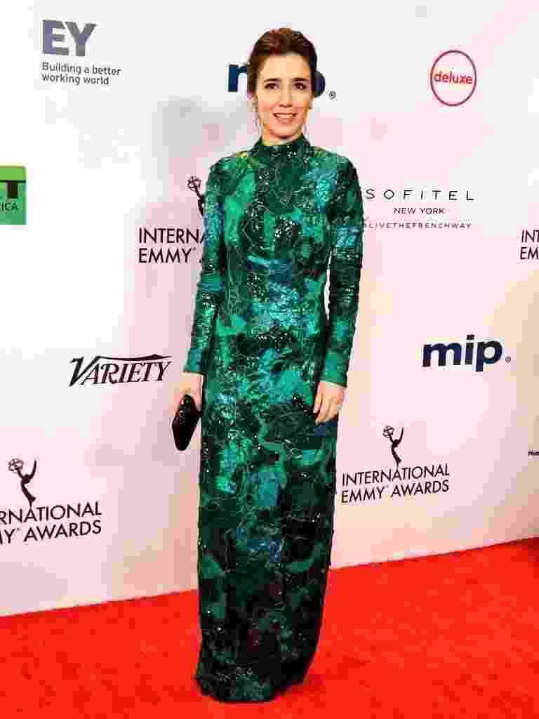 Marjorie Estiano na festa da premiação Emmy Internacional - Divulgação/Intl Emmy Awards