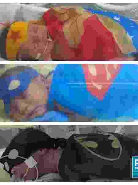 Bebês prematuros ganham fantasia de super-heróis em ação - Divulgação
