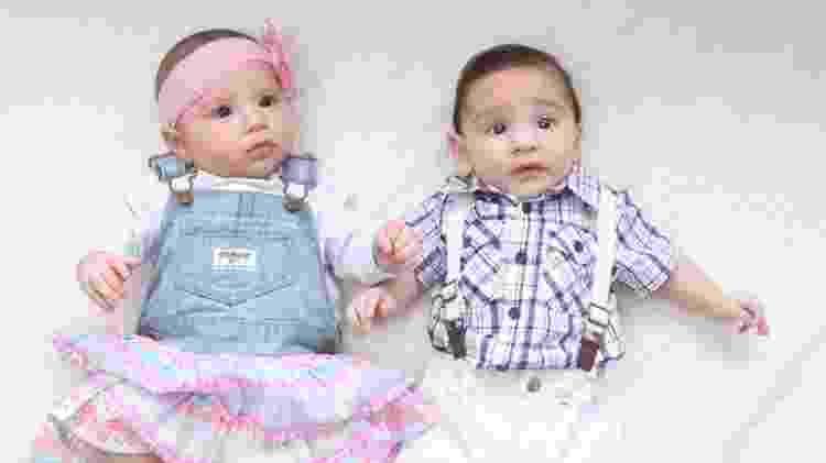 Gêmeos filhos de Anderson - Arquivo pessoal - Arquivo pessoal