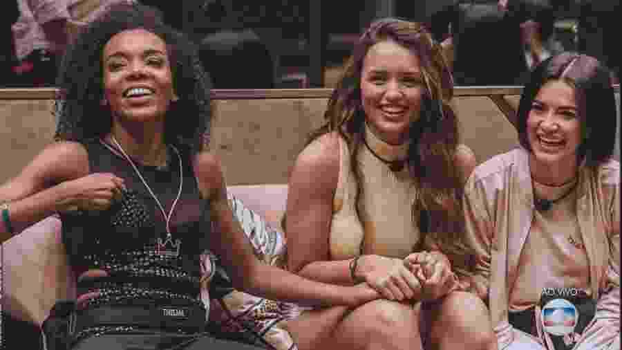 """Thelma, Rafa e Manu: as """"fadas"""" que ainda podem chegar à final do """"BBB 20"""" - Rede Globo/Reprodução"""