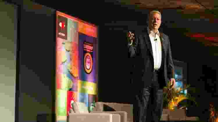 Al Gore, ex-vice-presidente dos EUA, durante treinamento Climate Reality Leadership, voltado para lideranças em sustentabilidade - Divulgação - Divulgação