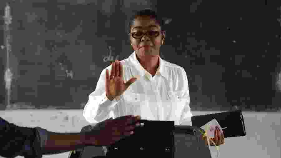 Rose Christiane Ossouka Raponda, de 56 anos, foi prefeita da capital, Libreville - AFP