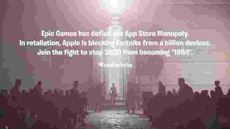 Apple x Fortnite - Reprodução/Vimeo - Reprodução/Vimeo
