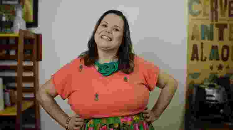 A designer e moradora da casa contêiner Patrícia Melo - Arquivo Pessoal - Arquivo Pessoal