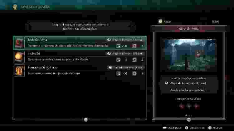 Demons Souls Magia - Daniel Esdras/GameHall - Daniel Esdras/GameHall
