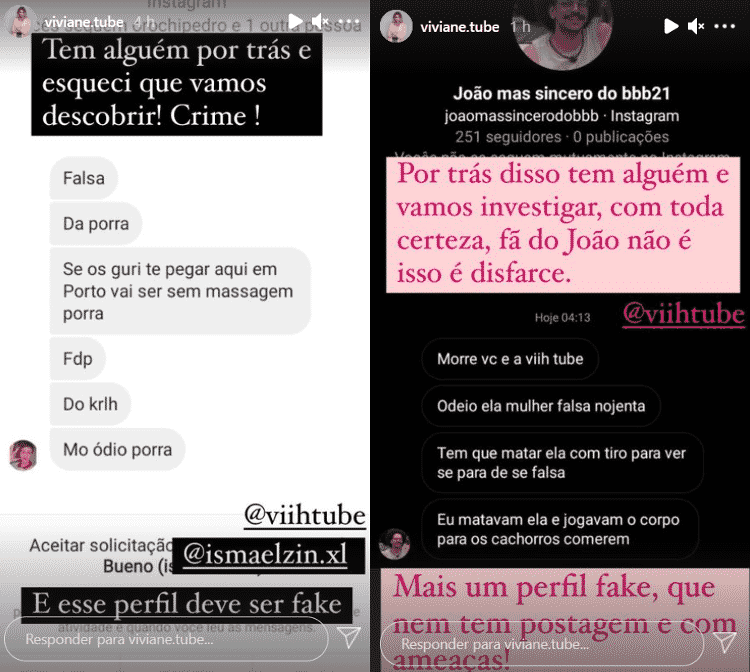 BBB 21: Mãe de Viih Tube expõe ameaças  - Reprodução / Instagram @viviane.tube - Reprodução / Instagram @viviane.tube