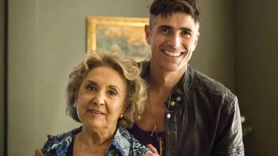 Reynaldo Gianecchini e Eva Wilma em Verdade Secretas, de 2015 - Reprodução/Globo