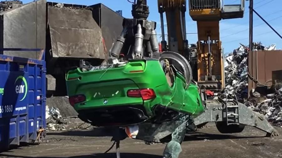BMW M3 é destruído no Reino Unido - Reprodução