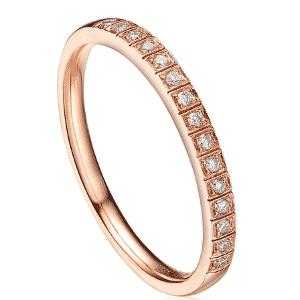 Anel em ouro rosé com 15 diamantes, da Reisman. - Divulgação
