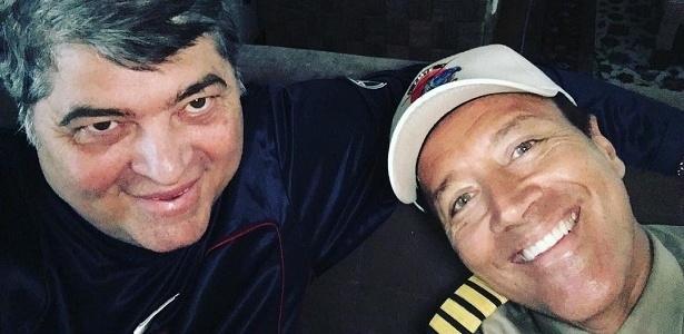 O apresentador José Luiz Datena ao lado do comandante Hamilton Rocha - Reprodução/Instagram/datenareal