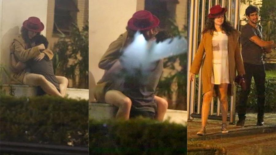 Maria Casadevall e Renato Góes se beijam após festa de Sophie Charlotte - Ag.News