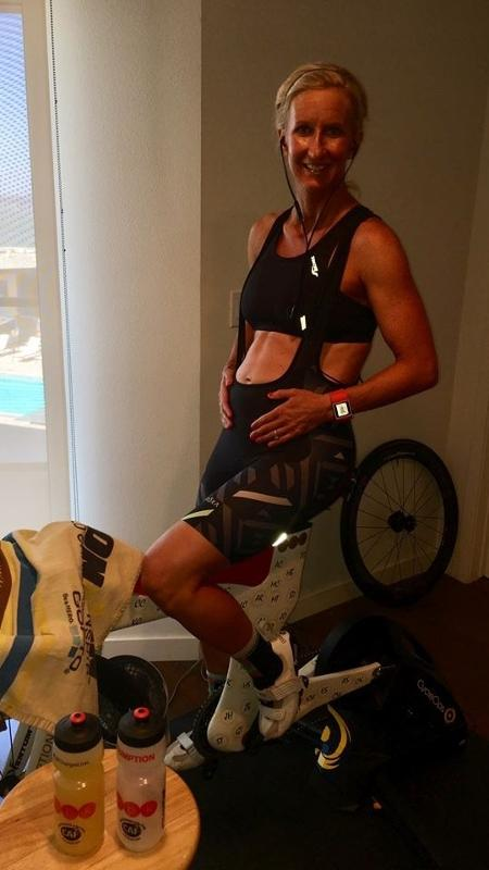 Meredith Kessler não sabia que estava grávida quando foi participar de sua 60ª prova de triathlon - Reprodução/Facebook