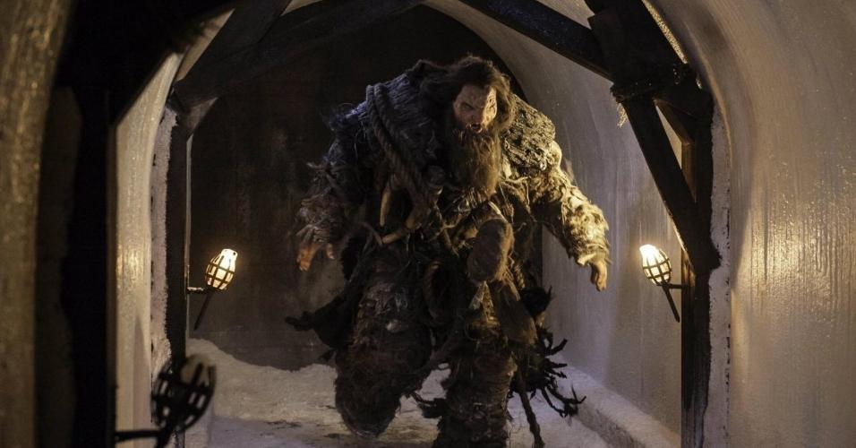 """Neil Fingleton ficou conhecido por ter interpretado o temido gigante Mag, da série """"Game of Thrones"""""""
