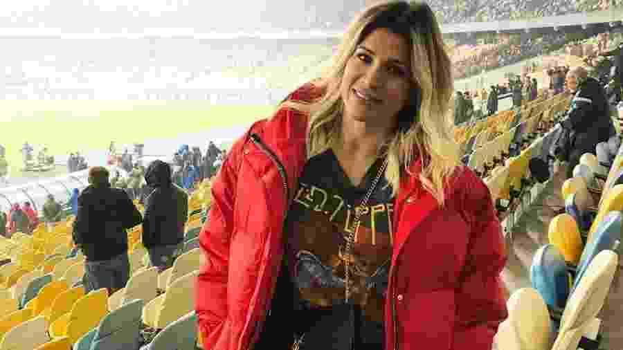 Dani Souza capricha no look para assistir a jogo de futebol do marido, Dentinho - Reprodução/Instagram