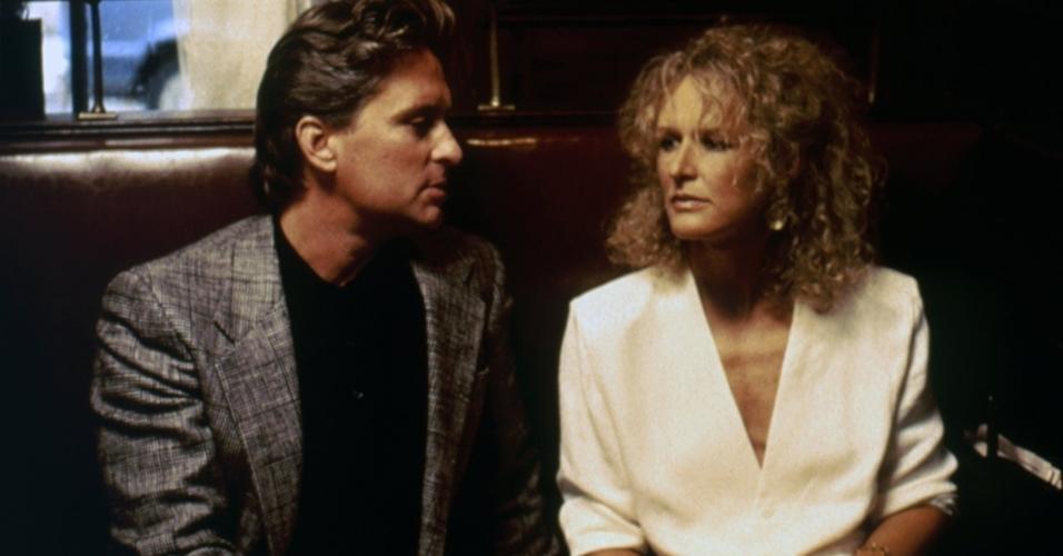 """Michael Douglas e Glenn Close em cena de """"Atração Fatal"""" (1987)"""