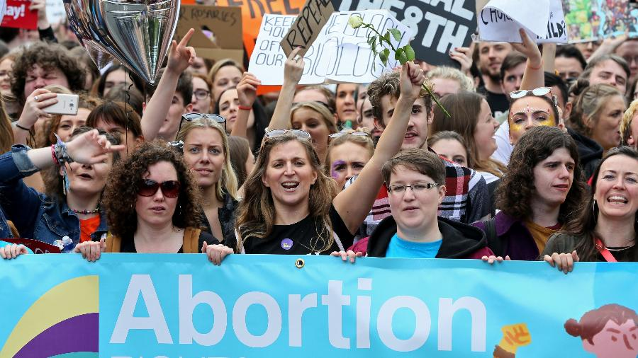 Protesto pró-aborto na Irlanda em setembro de 2017 - AFP