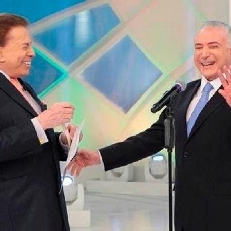 Silvio Santos recebeu Michel Temer em seu programa - Reprodução