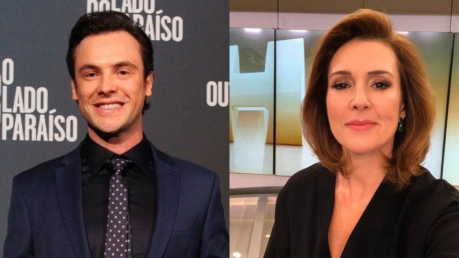 O ator Sérgio Guizé e a jornalista Renata Capucci - Divulgação / TV Globo e Reprodução / Instagram