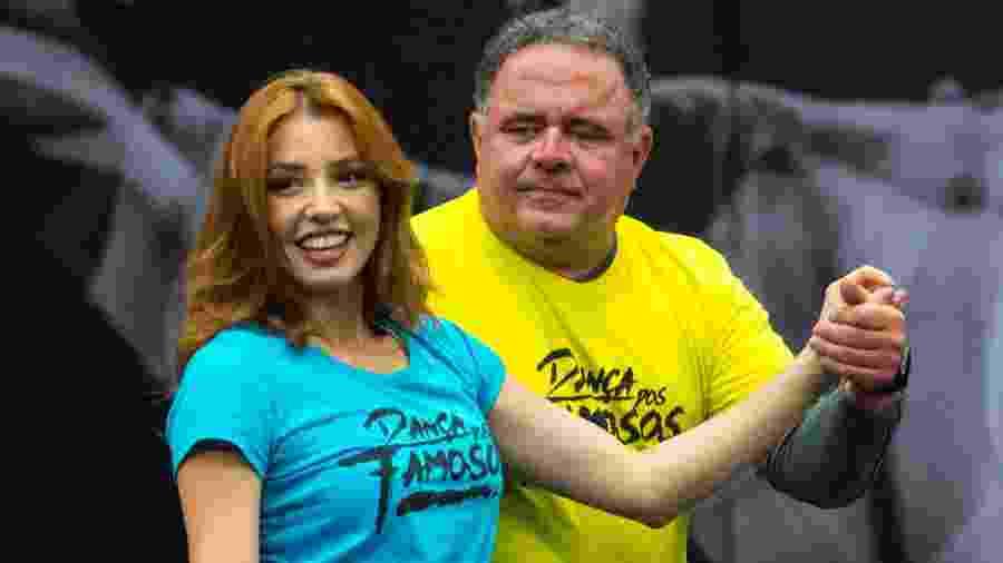 Léo Jaime e Larissa Parison em ensaio para a Dança dos Famosos 2018 - Estevam Avellar/TV Globo
