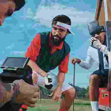 O rapper Mussoumano em gravação com MV Bill - Instagram/Reprodução