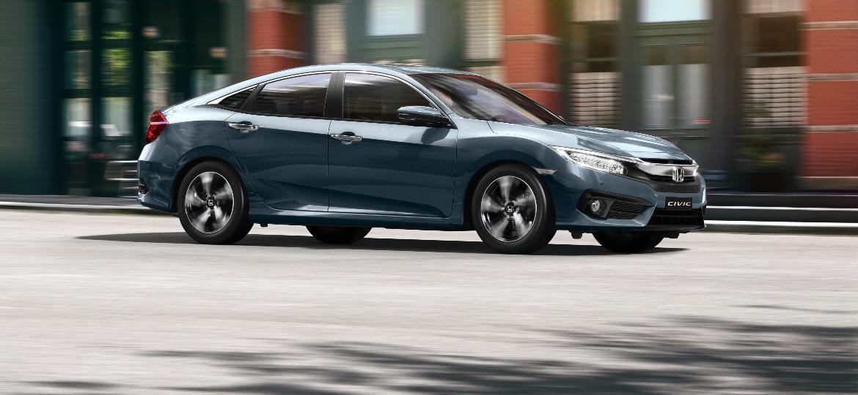 Honda Civic 2019 ganha apenas uma alteração em relação à linha 2018: a nova cor azul - Divulgação