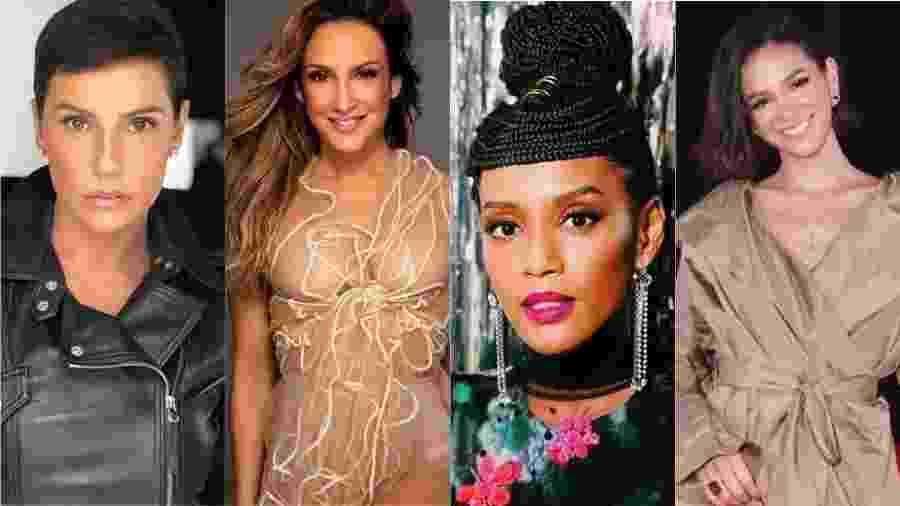 Deborah Secco, Taís Araújo e Bruna Marquezine foram algumas das famosas que saíram em defesa da cantora - Reprodução/Instagram