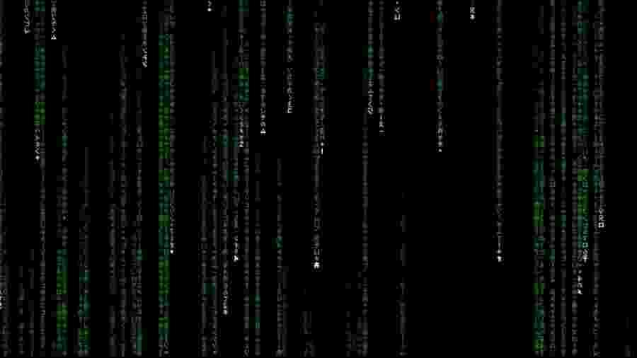 """Os códigos na abertura do filme """"The Matrix"""" (1999) - Reprodução"""