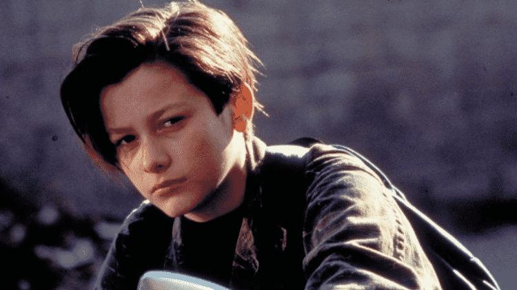 Edward Furlong como John Connor em Exterminador do Futuro 2 (1991) - Reprodução
