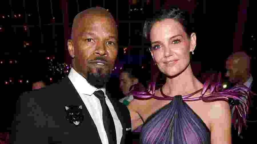 Jamie Foxx e Katie Holmes no Met Gala 2019 - Kevin Mazur/MG19/Getty Images for The Met Museum