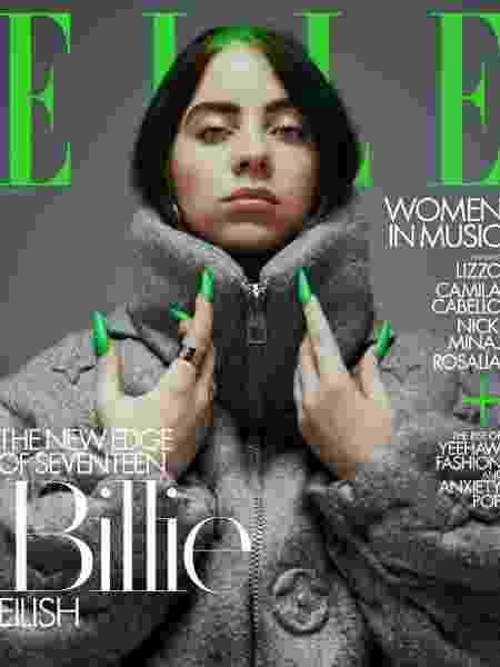 "Billie Eilish na capa da revista ""Elle"" - Divulgação/Elle"