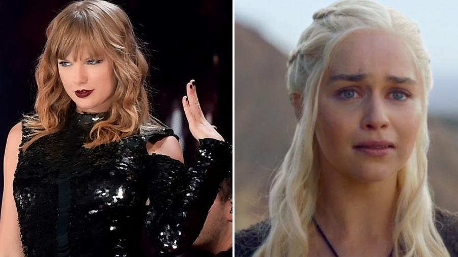 Taylor Swift e Daenerys, de Game of Thrones, vivida por Emilia Clarke - Reprodução/NME