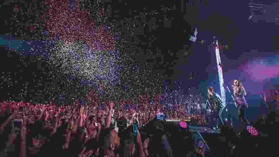 """Dupla levou show da turnê """"Nossa História"""" ao Barclays Center, em Nova York - Leonardo Mascaro/Divulgação"""