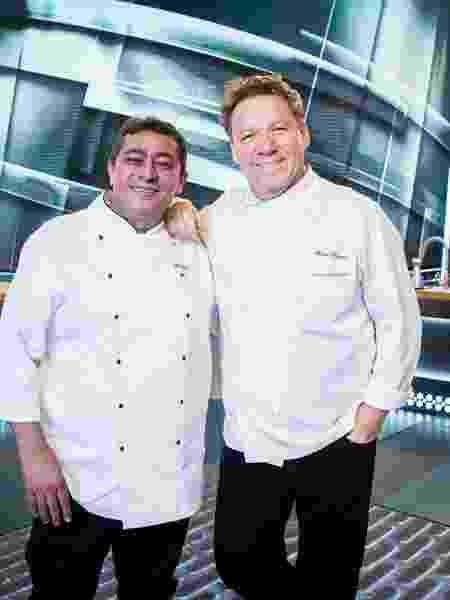 Batista e Claude Troisgros estão juntos no reality da Globo Mestre do Sabor - Globo/Victor Pollak