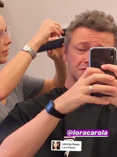 Lucas Lima tem o cabelo cortado por Sandy - Reprodução/Instagram