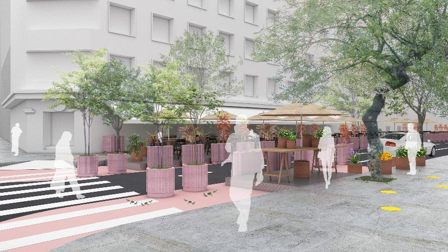 O projeto Ocupa Rua na General Jardim, centro de São Paulo - METRO ARQUITETOS