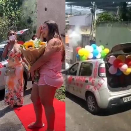 Valesca Popozuda recebe homenagem em sua casa - Reprodução / Instagram
