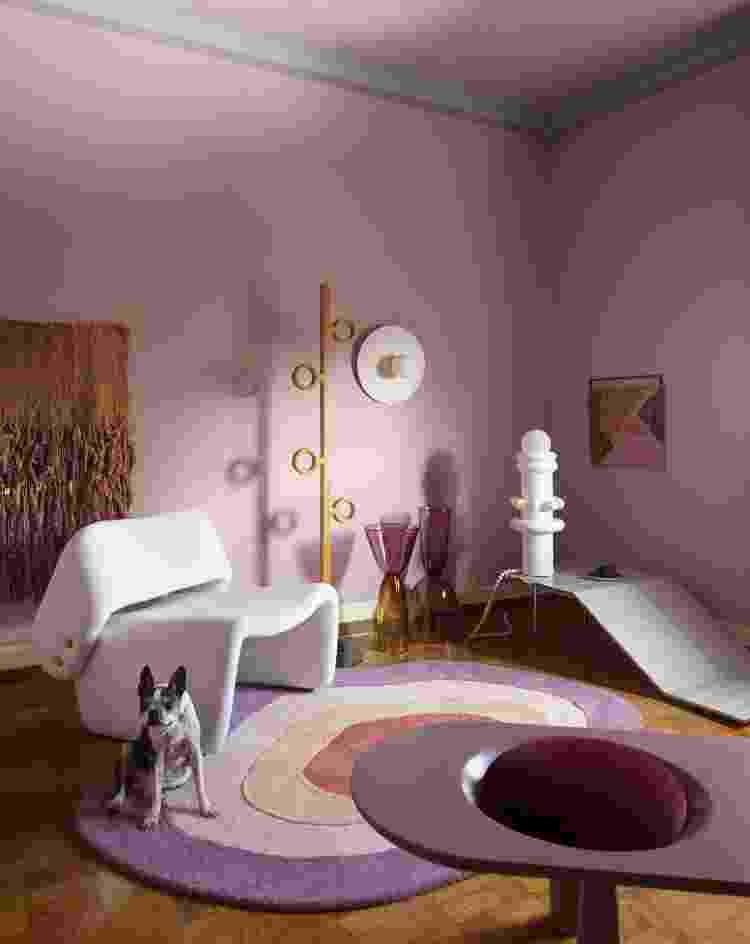 Sala de estar do consultor de cores Michell Lott - Divulgação/@andreklotz - Divulgação/@andreklotz