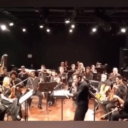 """Orquestra Sinfônica da Bahia tocando """"Bum Bum Tam Tam"""" - Reprodução / Instagram"""