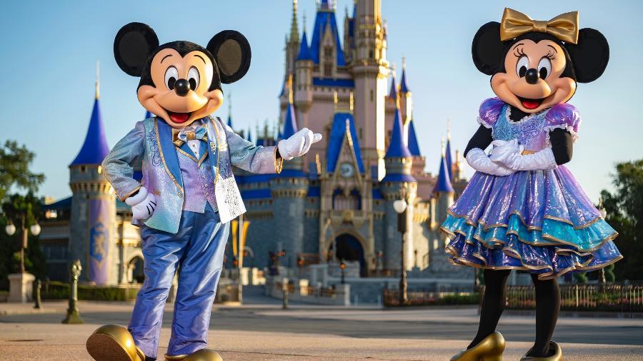 Os hots da festa: Mickey e Minnie Mouse - Matt Stroshane/Diculgação
